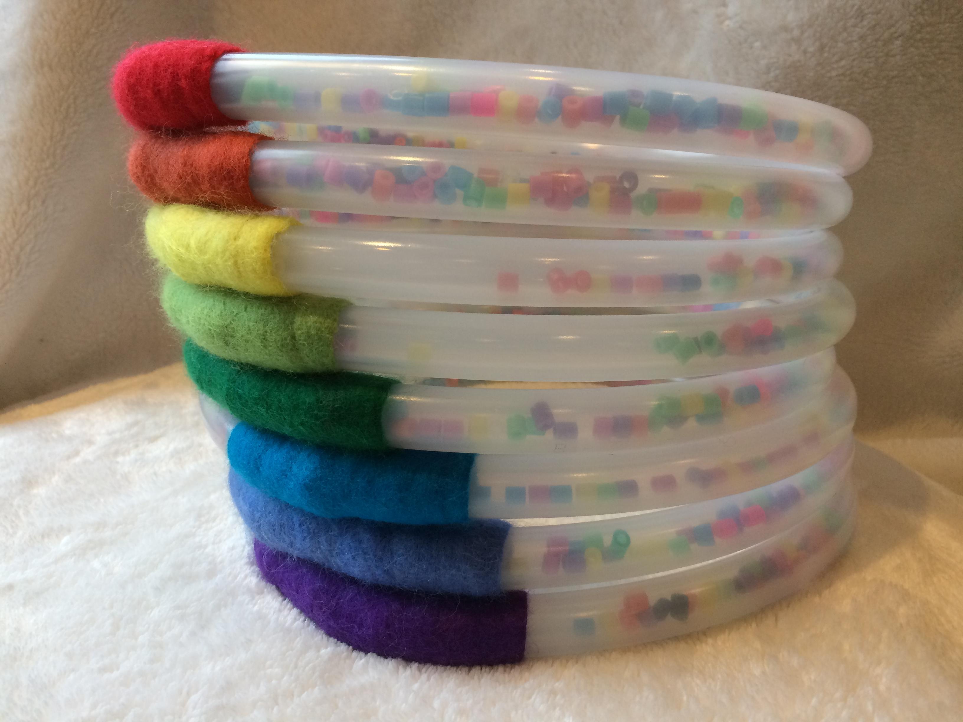 Regenbogen Ringe für Babys